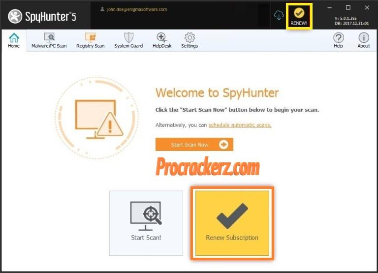 SpyHunter Key - Procrackerz.com